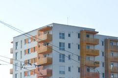 Blok mieszkalny od Wschodniego Europa Zdjęcia Stock
