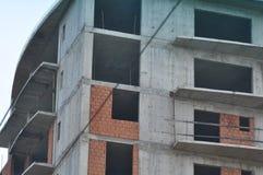 Blok mieszkalny w budowie Zdjęcia Royalty Free