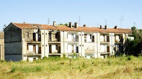 Blok mieszkalny w pustkowiu Obraz Royalty Free