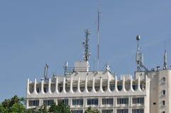 Blok mieszkalny z anteną Zdjęcia Stock