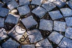 Blok op straat in tuin Royalty-vrije Stock Foto's