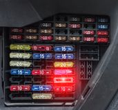 Blok samochodowi lonty, zakończenie, elektryczny, elektryczny przymknięcie, zdjęcia royalty free