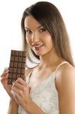 Blok van chocolade royalty-vrije stock afbeelding