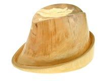 Blok van de linde het houten hoed stock foto's