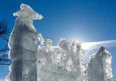 Blok van het zonneschijn het ijzige ijs Stock Afbeelding