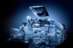 Blok van ijs. Stock Foto