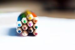 Blok van kleurenpotloden Royalty-vrije Stock Fotografie