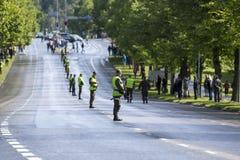 Blokada na drodze Zdjęcia Stock