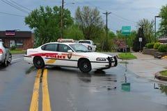 blokady policja Zdjęcie Stock