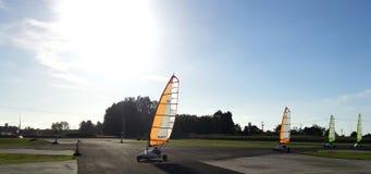 Blokart Land Yacht Racing Stock Photo