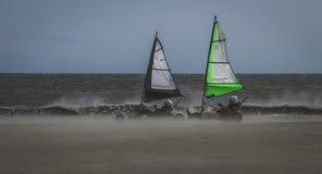 Blokarting sur la plage photo libre de droits