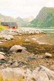 Blokhuis in de bergen Royalty-vrije Stock Foto's