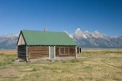 Blokhuis in Grote Tetons royalty-vrije stock foto's
