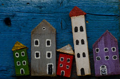 Blokhuizen Stock Afbeeldingen