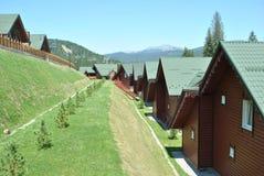 Blokhuizen in de bergen Royalty-vrije Stock Afbeelding