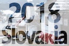 Blokhuizen in Vlkolinec-dorp, Slowakije, PF 2018 Royalty-vrije Stock Foto