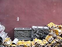 bloki cementują dachowe chińczyk płytki Zdjęcie Stock
