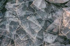 Bloki lód na jeziornym Balaton Węgry Obrazy Stock
