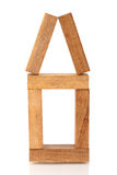 bloki mieścą drewnianego Obrazy Royalty Free