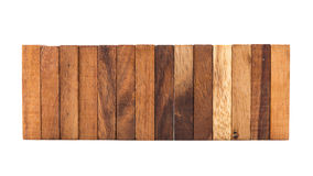 Bloki odizolowywający na białym tle drewno Obraz Royalty Free
