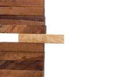 Bloki odizolowywający na białym tle drewno Obrazy Royalty Free