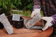 bloki podpalają ogrzewanie papier przetwarzają Obraz Royalty Free