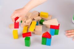 bloki target1517_1_ kolorowy drewnianego Zdjęcie Stock