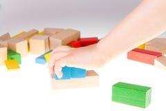 bloki target1517_1_ kolorowy drewnianego Zdjęcie Royalty Free