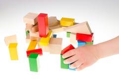 bloki target1517_1_ kolorowy drewnianego Obrazy Stock