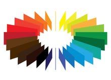 Bloki tworzy koło, fan koloru/(colour) ilustracji