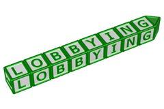 Bloki z słowa lobbować świadczenia 3 d Zdjęcie Stock