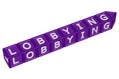 Bloki z słowa lobbować świadczenia 3 d Fotografia Royalty Free