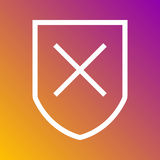Bloking ikona w modnym mieszkanie stylu odizolowywającym na popielatym tle Interneta i ecommerce symbol dla twój projekta, logo,  royalty ilustracja