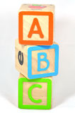 Blokken ABC stock foto's