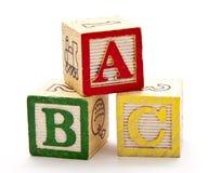 Blokken ABC stock afbeeldingen