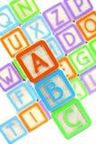 Blokken ABC Royalty-vrije Stock Afbeeldingen