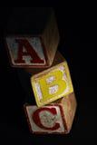 Blokken ABC Stock Foto