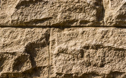 Blokken die met Morter Korrel en Schaduw en verbindingen tonen Stock Foto