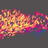 Blokken in Lege Ruimte Chaotische deeltjes Abstracte dynamische achtergrond Wetenschap en verbindingsconcept Futuristisch ontwerp Royalty-vrije Stock Foto
