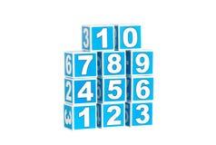 Blokken met aantallen stock foto