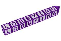 Blokken met woord het lobbyen het 3d teruggeven Royalty-vrije Stock Foto's