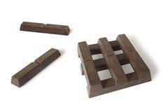 Blokken van chocolade Royalty-vrije Stock Afbeelding