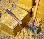 Blokken van de Was van de Honingbij stock foto's