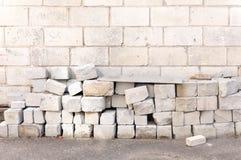 Blokken van lichtgewicht cellulair beton royalty-vrije stock fotografie