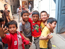 Blokkenwagenfestival, Nepal Stock Foto's