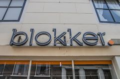 Blokker Store At Weesp The Netherlands. A Blokker Billboard Above The Entrance At Weesp The Netherlands 2018 Royalty Free Stock Photos