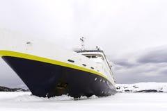 Blokkerend plankenijs, Antarctica Royalty-vrije Stock Afbeeldingen