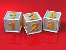 Blokletters - 3d ziek concept Royalty-vrije Stock Foto