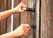Blokować dużą bramę twój własność Zdjęcie Royalty Free