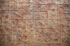 Blokowa brown dachówkowa podłoga Zdjęcie Stock